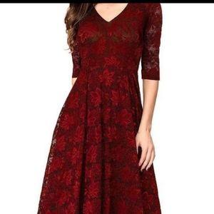 Noctflos maroon lace dress size xxl